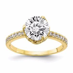 10K Polished CZ Ring